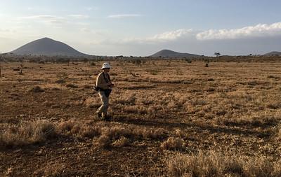 David, on the walking safari at Ndarkwai Ranch. Photo by Ken Kaliski.