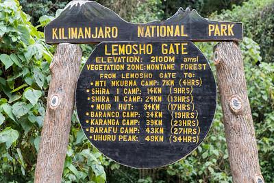 Lemosho Gate - our trailhead! - Kilimanjaro National Park