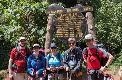 The trek begins! Lemosho Gate - Kilimanjaro National Park