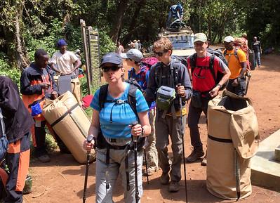 Starting our trek!  Photo by Ken Kaliski.