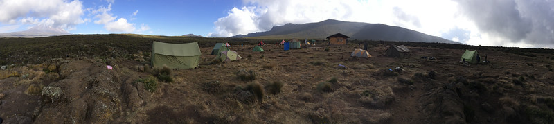 Shira I - end of Day 2 - sits in the middle of the Shira Plateau.