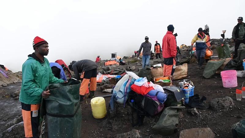 Packing up at Karanga camp.