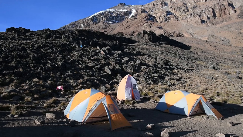 Lava Tower campsite, at 15,200'.