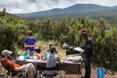 Lunch at the top of a ridge.