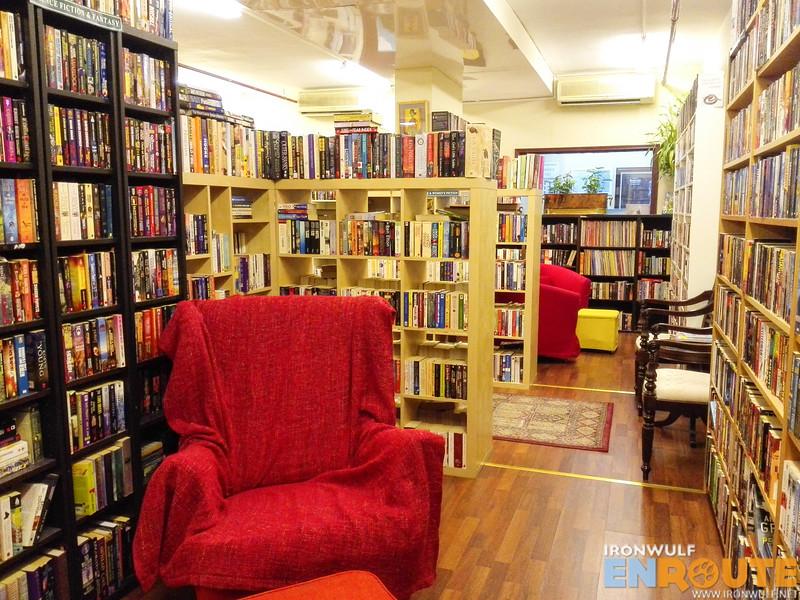 Cozy chairs around the store