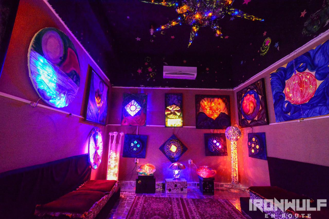 Lights and sound room