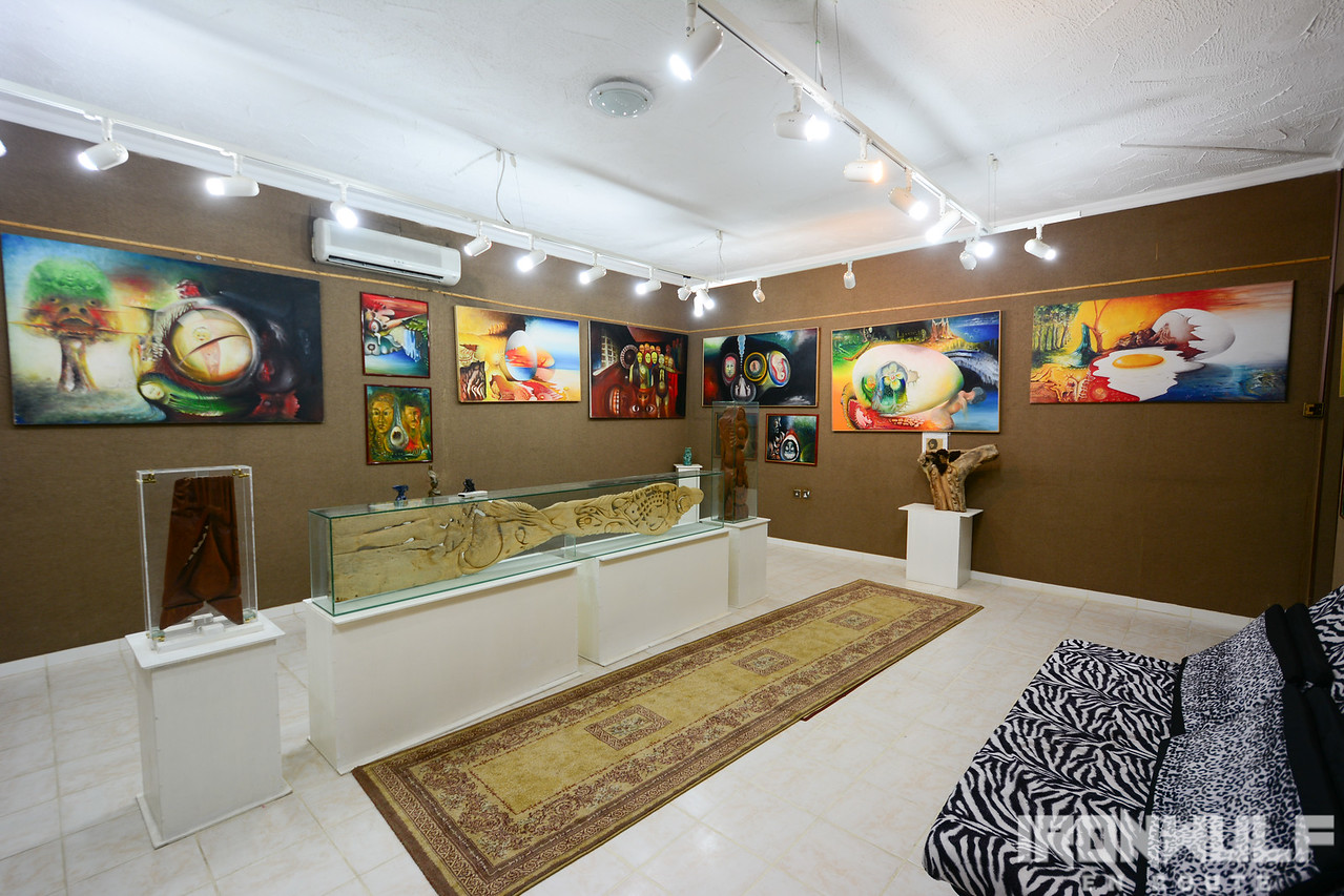 Gallery section showcasing Khalifa's works