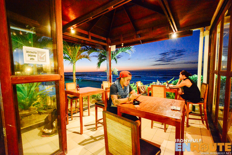 Al fresco dining at sunset