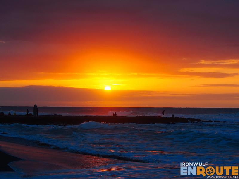 Catching the sunset at San Juan Beach