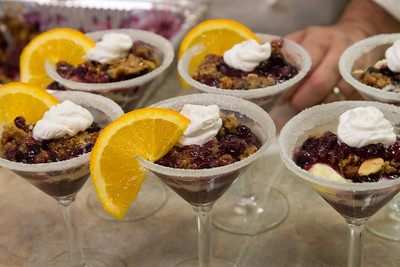 Blue Berry Crisp Martini with Mascarpone Cream