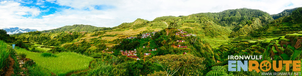 Panorama of the village from fib-iling rice terraces viewpoint