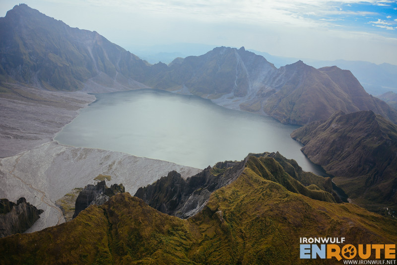 Finally the Mt Pinatubo Crater bird's eye view