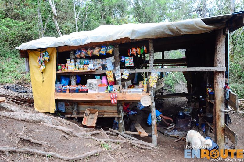 A sari-sari store near the summit campsite