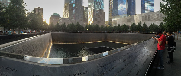 Reflecting pool at the World Trade Center memorial.