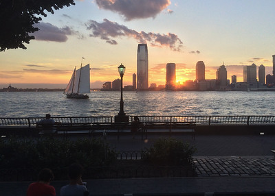 The Hudson river at sunset.