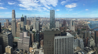 View of New York from the office building where I worked.