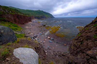 The headlands and beaches at the midpoint of the Green Garden trail in Gros Morne national park.