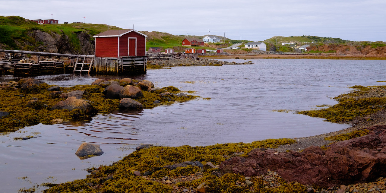 Typical fishing cove installations in north central Newfoundland.