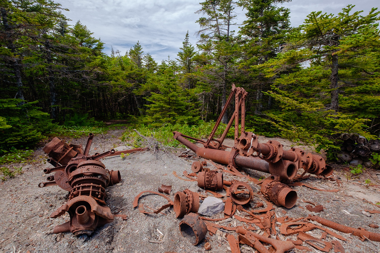 Newfoundland is a large barren place. Here, WWII remnants of a B-29 crash decay in the elements.