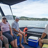 Heading out to Rotoroa Island in a water taxi