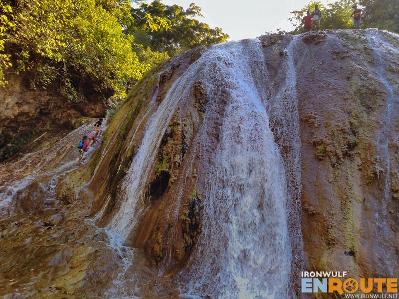 Descending the mid-falls