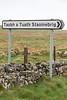 Sign to North Staoinebrig (Stoneybridge), South Uist