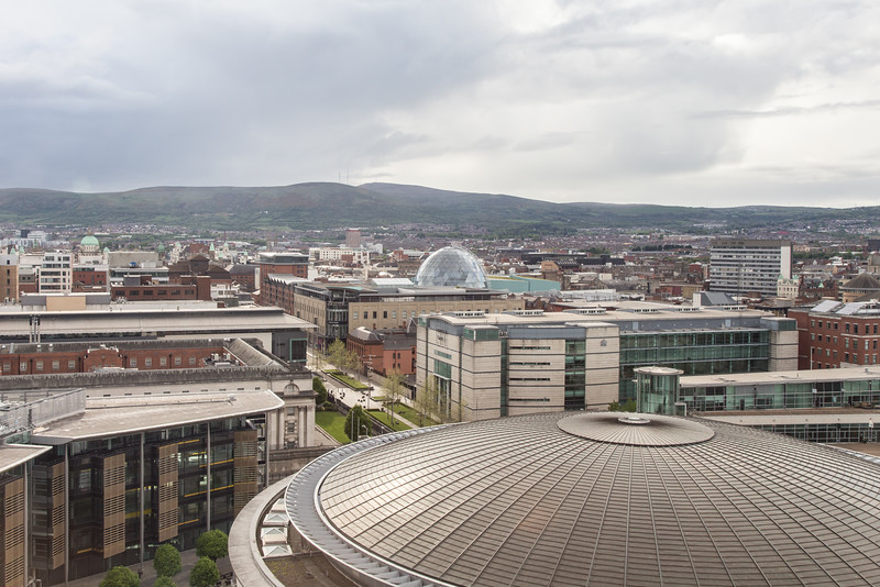 View of Belfast, Northern Ireland from Hilton Hotel