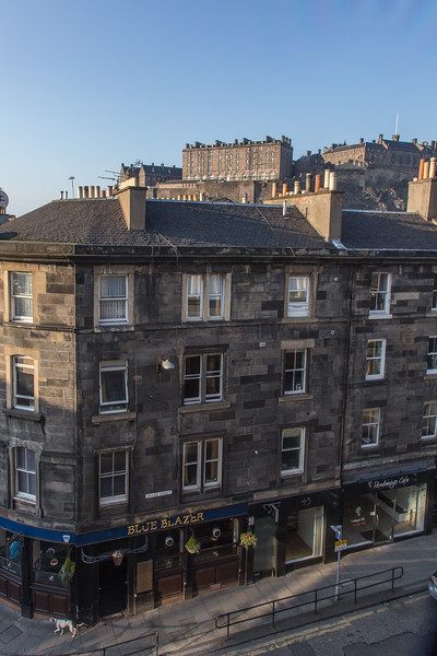 View of Edinburgh Castle from Doubletree Hotel