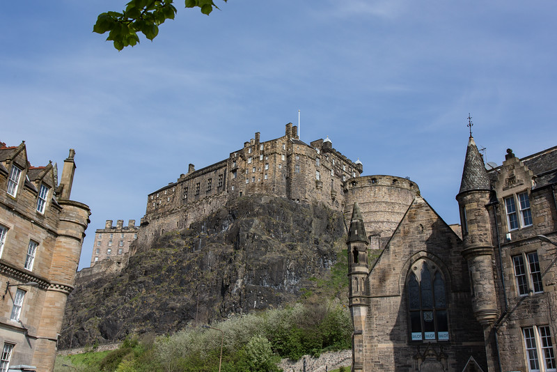 View of Edinburgh Castle from Grassmarket