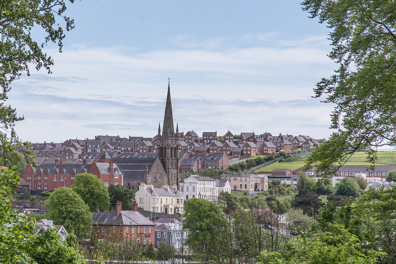 View of Downpatrick, Northern Ireland from Down Cathedral