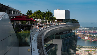 View from observation deck, Marina Bay Sands hotel, Singapore.