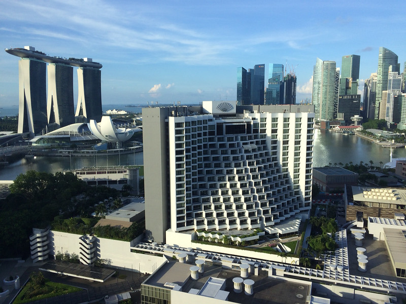 Singapore - view from Pan Pacific hotel.