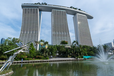 Marina Bay Sands hotel, from Marina Bay Gardens.