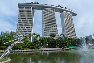 Marina Bay Sands hotel, from Marina Bay Gardens.