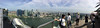 Panoramic view from observation deck, Marina Bay Sands hotel, Singapore.