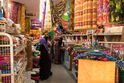 Sari shop, Little India, Singapore.