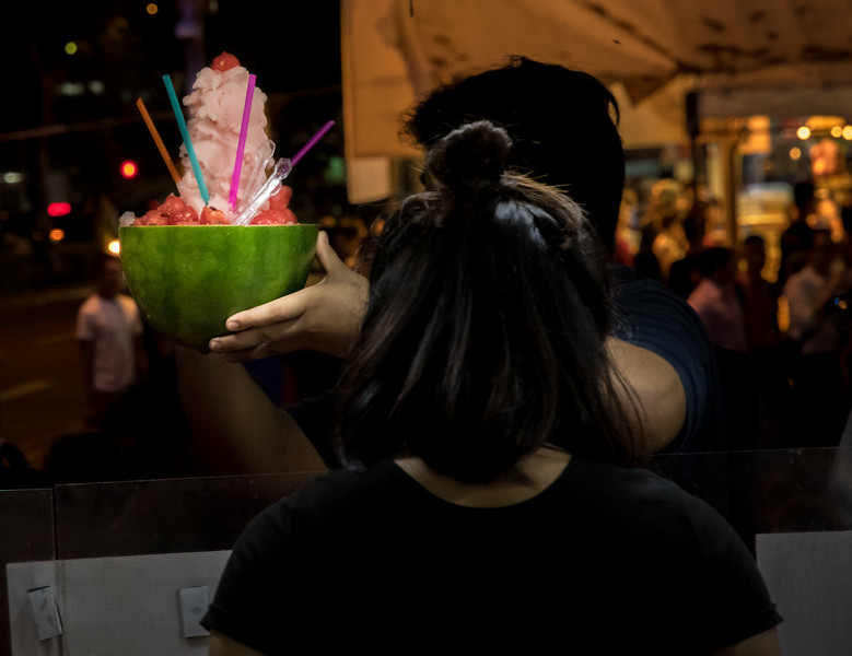 Watermelon treats, Ramadan festival, Singapore.