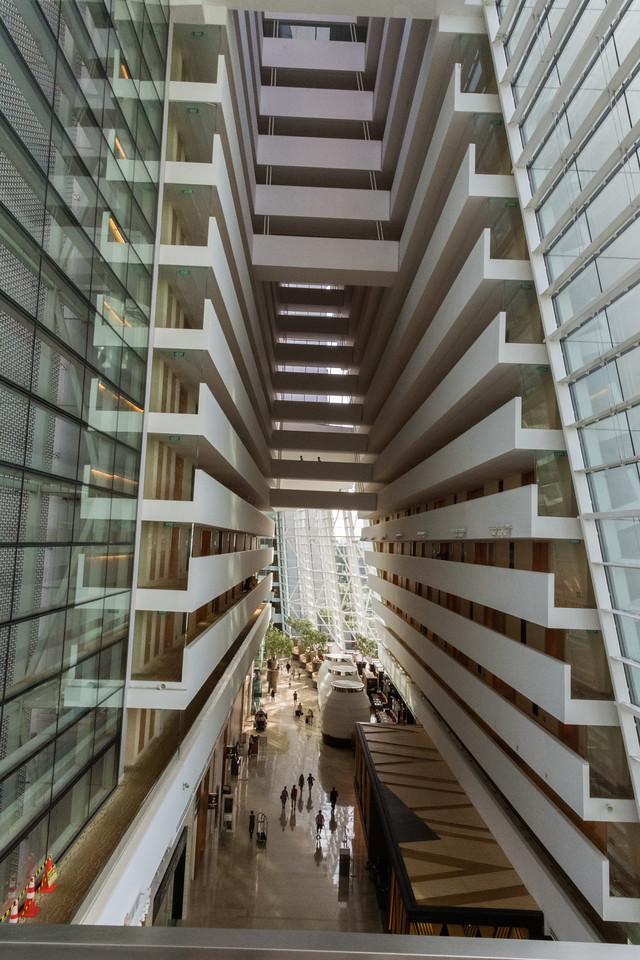 Marina Bay Sands hotel, interior.