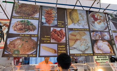 Many options at the Ramadan festival, Singapore.