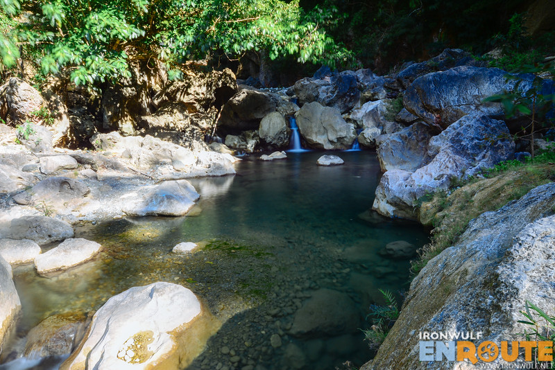 Inviting clear water of the upper pool