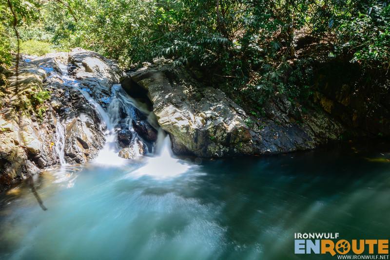 Inviting blue-green waters of Mablaran Falls
