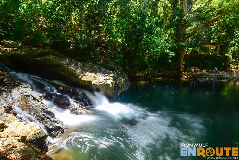 Refreshing surroundings at Mablaran Falls