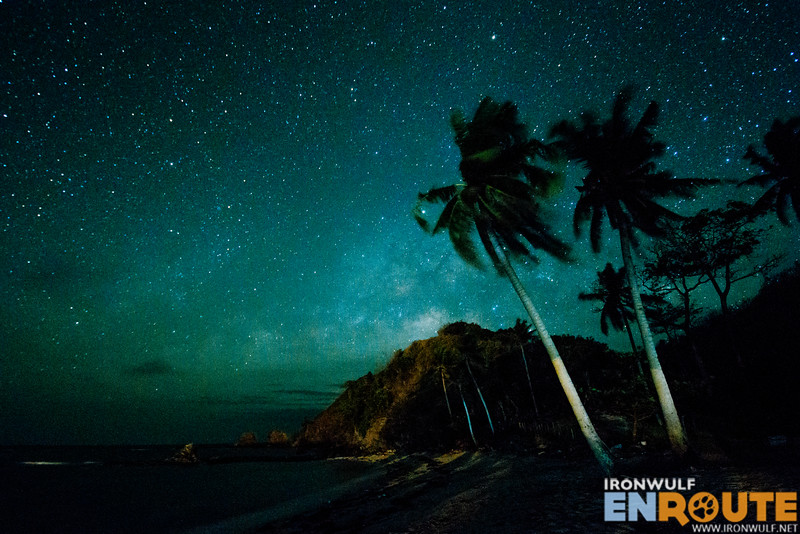 The beach and the starry night
