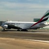 Emirates A380-800 about to take-off