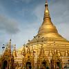 Shwedagon Pagoda in Rangoon, Burma.