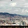 Barcelona skyline from Av. Miramar