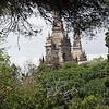Towers of Castell de Montjuic - from Av. Miramar