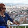 Vadis enjoying the View toward Barcelona harbor area from  Vall de Hebron