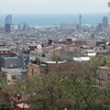 Barcelona skyline from Guell Parc grounds