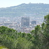 View of Barcelona from Guell Parc grounds